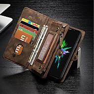 billiga Mobil cases & Skärmskydd-fodral Till Apple iPhone X iPhone 8 Korthållare Plånbok Stötsäker med stativ Lucka Fodral Ensfärgat Hårt Äkta Läder för iPhone X iPhone 8