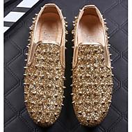 tanie Obuwie męskie-Męskie Komfortowe buty Dżety / Syntetyczny Wiosna / Jesień Mokasyny i buty wsuwane Złoty / Czarny