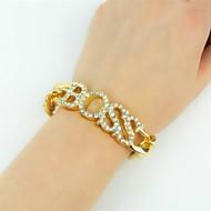 Chaînes Bracelets Bracelet Femme Rivière de Diamants Monogrammes Imitation Diamant dames Classique Mode énorme Bracelet Bijoux Dorée Argent Irrégulier pour Soirée Bar