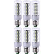 billige Kornpærer med LED-SENCART 6pcs 7 W 1200 lm E26 / E27 LED-kornpærer T 72 LED perler SMD 5730 Dekorativ Varm hvit / Kjølig hvit 220-240 V