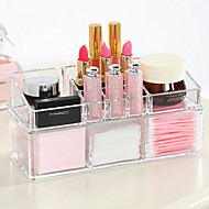 cheap Bathroom Products-Cosmetics Storage Multi-function Easy to Use High Quality Storage Fashion Plastic 1pc - For Home Everyday Use Bathroom Multifunction Bath