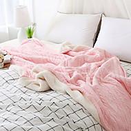billiga Filtar och plädar-Stickat, Färgat garn Enfärgad Polyester/PolyaMedium filtar