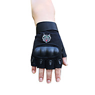 cheap Phones & Electronics-Half-finger Unisex Motorcycle Gloves Fiber Wearable Non-Skid Breathability