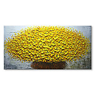 preiswerte Florale/Botansiche Gemälde-Handgemalte Abstrakt Blumenmuster/Botanisch Horizontal, Zeitgenössisch Modern Segeltuch Hang-Ölgemälde Haus Dekoration Ein Panel