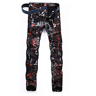 Herre Punk & gotisk Gade Chinos Jeans Bukser Geometrisk camouflage