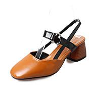 女性用 靴 PUレザー 秋 コンフォートシューズ フラット フラットヒール ポインテッドトゥ リボン ベージュ / Brown