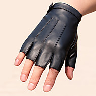 cheap Phones & Electronics-Half-finger Men's Motorcycle Gloves Faux Leather Wearable Non-Skid Breathability