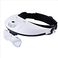 cheap Magnifying Glasses-1-6 Magnifiers/Magnifier Glasses Lens with LED Light Lightweight Adjustable Size Replaceable Battery Head No Focusing Mechanism