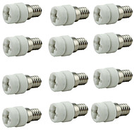billige belysning Tilbehør-12pcs E14 til G9 G9 Bulb Accessory / Omformer Keramikk Lyspære socket