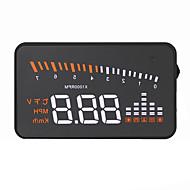 ieftine Display Complet-VX5 Head Up Display Alarmă Alarmă de temperatură înaltă Alarma de joasă tensiune Viteză de avertizare Alimentează și pornește pentru