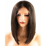Jomfruhår Helblonde / Blonde Front Paryk Brasiliansk hår Paryk Bob frisure 130% / 150% Natural Hairline Dame Kort Blondeparykker af menneskehår