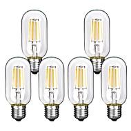 voordelige LED-gloeilampen-6pcs 4W 360lm E26 / E27 LED-gloeilampen T45 4 LED-kralen COB Decoratief Warm wit Koel wit 220-240V