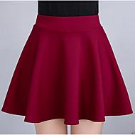 Damskie Mini Ołówek Spódnice - Wyjściowe Solidne kolory Wysoka talia
