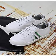 baratos Sapatos Masculinos-Homens Pele Napa Primavera / Verão Conforto Tênis Branco / Preto / Vermelho