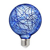 billige Globepærer med LED-BRELONG® 1pc 3W 300 lm E26/E27 LED-globepærer 95 leds SMD Dekorativ Grønn Blå Rød 220V-240V