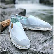 tanie Obuwie męskie-Męskie Buty Płótno Lato Comfort Mokasyny i pantofle na Casual White Light Blue