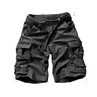 muške aktivne plus veličine pamuk labav kratkih hlače hlače - solidnu boju camouflage