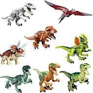 Original Jurassic World Tyrannosaurus Building Blocks Jurrassic Park Igraće kocke Dinosaur Sa životinjama Klasik 8pcs Komadi Dječji Poklon