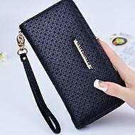 cheap Wallets-Women's Bags PU(Polyurethane) Wallet Zipper Geometric Black