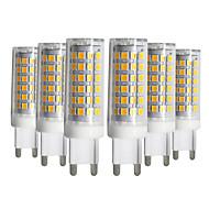 billige Bi-pin lamper med LED-YWXLIGHT® 6pcs 9W 750-850lm G9 LED-lamper med G-sokkel T 76 LED perler SMD 2835 Mulighet for demping Varm hvit Kjølig hvit Naturlig hvit
