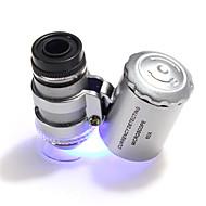 60 X 10 mm Mikroskop Tragbar Camping & Wandern Für den täglichen Einsatz Kunststoff Metal