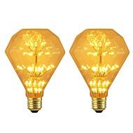 billige Globepærer med LED-BRELONG® 2pcs 3W 300lm E26 / E27 LED-globepærer 47 LED perler SMD Stjernefull Dekorativ Gul 220-240V