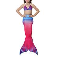 hesapli -The Little Mermaid Mayolar / Bikini Genç Kız Cadılar Bayramı / Karnaval Festival / Tatil Cadılar Bayramı Kostümleri Sarı+Mavi / Siyah / Turuncu / Kırmızı+Mavi Eski Tip