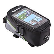 Χαμηλού Κόστους ROSWHEEL®-ROSWHEEL Κινητό τηλέφωνο τσάντα / Τσάντα για σκελετό ποδηλάτου 4.2/5.5/6.2 inch Οθόνη Αφής, Αδιάβροχη, Αντανακλαστικό Ποδηλασία για Samsung Galaxy S6 / iPhone 5C / iPhone 4/4S Κόκκινο