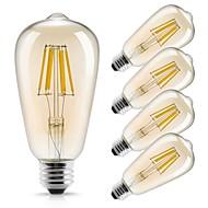 voordelige LED-gloeilampen-5 stuks 6W 560lm E26 / E27 LED-gloeilampen ST64 6 LED-kralen COB Decoratief Warm wit 220-240V