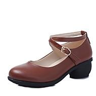 """billige Moderne sko-Dame Moderne Syntetisk Mikrofiber PU Høye hæler utendørs Lav hæl Hvit Svart Brun Rød 1 """"- 1 3/4"""" Kan spesialtilpasses"""