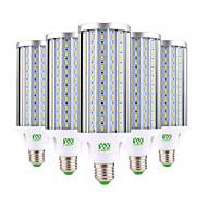 billige Kornpærer med LED-YWXLIGHT® 6pcs 60W 5500-6000 lm E26/E27 LED-kornpærer T 160 leds SMD 5730 Dekorativ Varm hvit Kjølig hvit Naturlig hvit AC 85-265V