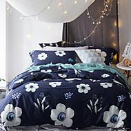 billige Blomstrete dynetrekk-Sengesett Blomstret Polyester / Bomull / 100% bomull Mønstret 4 deler