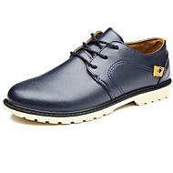 Muškarci Cipele PU Proljeće Jesen Udobne cipele Oksfordice za Kauzalni Crn Bijela Plava