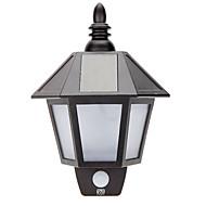 billige Utendørs Lampeskjermer-YWXLIGHT® 1pc 3W LED Solcellebelysning Vanntett Lysstyring Dekorativ Utendørsbelysning Varm hvit Hvit DC3.7V