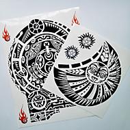 billiga Temporära tatueringar-2 pcs Tatueringsklistermärken tillfälliga tatueringar Totemserier Body art skuldra