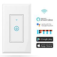 tanie Ulepszanie domu-Mądry przełącznik Przysłonięcia / Funkcja czasowa / Łatwy w użyciu 1 opakowanie przewód neutralny APP / Kontroler głośności / Android pracuje z / Amazon Alexa Echo / Asystent Google