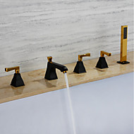 お買い得  浴槽用蛇口-浴槽用水栓 - コンテンポラリー ペインティング Ti-PVD 組み合わせ式 真鍮バルブ