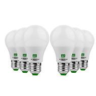 billige Globepærer med LED-YWXLIGHT® 6pcs 5W 400-500 lm E26/E27 LED-globepærer 10 leds SMD 5730 Varm hvit Kjølig hvit DC 12-24V