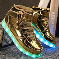 baratos Sapatos de Menino-Para Meninos Sapatos Couro Ecológico Outono / Outono & inverno Conforto / Tênis com LED Tênis Cadarço / Colchete / LED para Infantil Prata / Azul / Rosa claro
