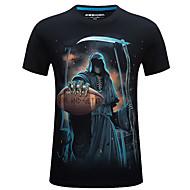 Rund hals Herre - Geometrisk Trykt mønster Gade T-shirt / Kortærmet