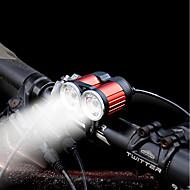 billige Sykkellykter og reflekser-Baklys til sykkel Frontlys til sykkel LED LED Sykling Med Kontakt (Er) Oppladbart Li-ion Batteri 1600 Lumens Oppladbart Batteri Hvit