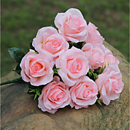billiga Heminredning-Konstgjorda blommor 1 Gren Europeisk Stil / Pastoral Stil Roser Bordsblomma