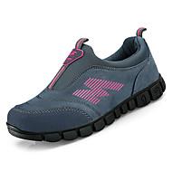 preiswerte -Damen Schuhe Nubukleder Frühling / Herbst Komfort Sportschuhe Walking Flacher Absatz Runde Zehe Grau / Schwarz / weiss / Dunkelrot