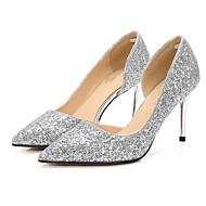 Mujer Zapatos Brillantina / Lentejuelas Primavera / Verano Pump Básico Tacones Tacón Stiletto Dedo Puntiagudo Dorado / Plata / Morado Jeu Best-seller hPv8io