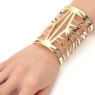 女性用 クール 特大の カフブレスレット  -  特大の ファッション 幾何学形 ゴールド シルバー ブレスレット 用途 式典 パーティー