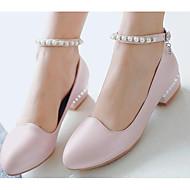 お買い得  靴用品-ラインストーン デコレーションアクセント 女性用 オールシーズン カジュアル ブラック ブルー ピンク