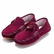 tanie Obuwie chłopięce-Dla dziewczynek Dla chłopców Buty Nubuk Wiosna Jesień Comfort Mokasyny i pantofle na Casual Niebieski Burgundowy