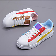 cheap Women's Sneakers-Women's Shoes Nubuck leather Spring Fall Comfort Sneakers Flat Heel Round Toe for Rainbow