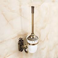 ieftine Bathroom Hardware-Suport Perie Toaletă Multifuncțional Antichizat Alamă 1 buc - Hotel baie Montaj Perete
