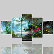 cheap Prints-rolled canvas prints classic modern, five panels canvas horizontal print wall decor home decoration